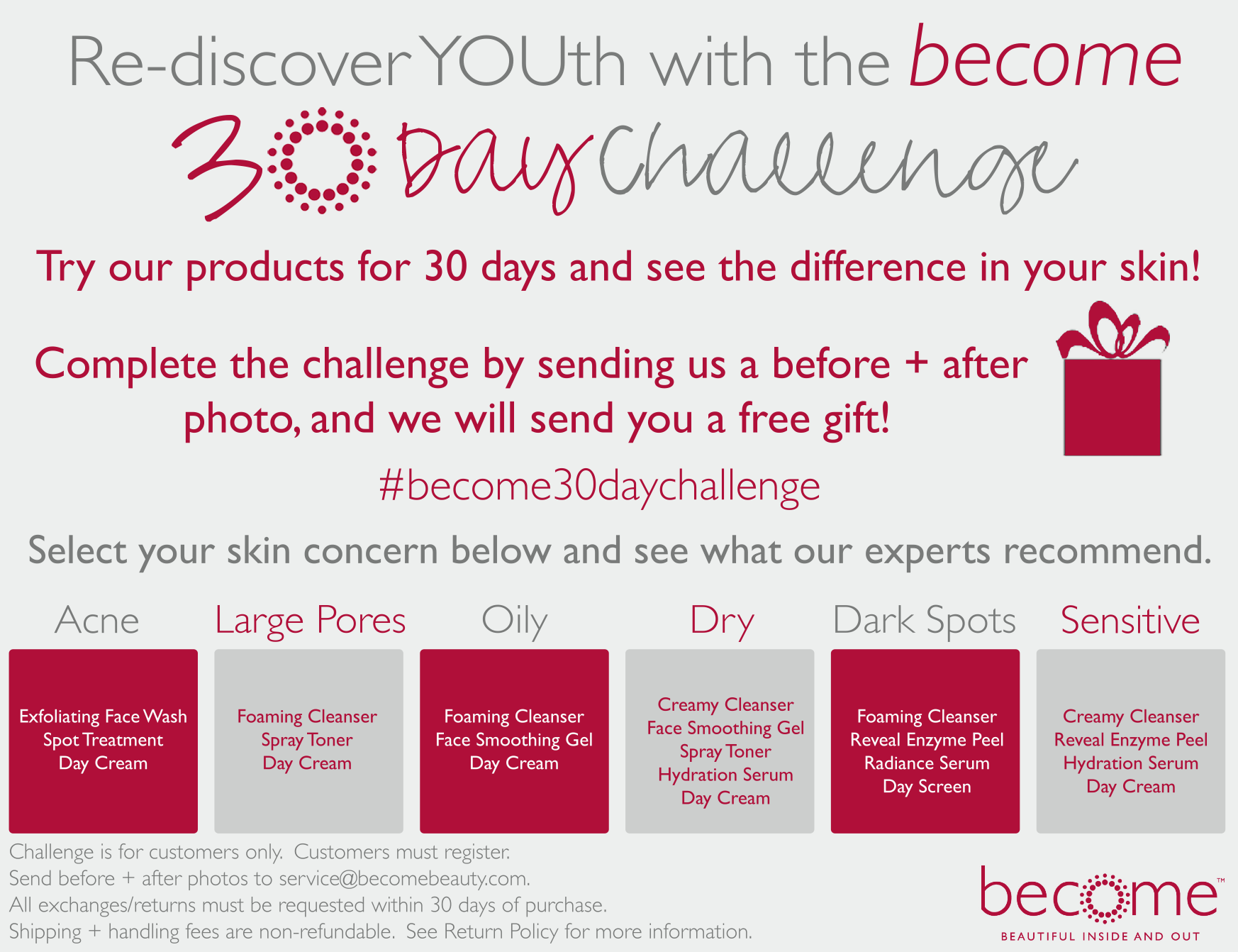 Re discover youth with the become 30 day challenge